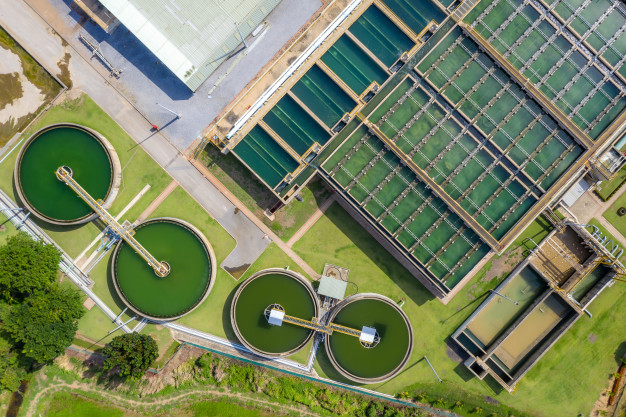 aerial-view-solid-contact-clarifier-tank-type-sludge-recirculation-water-treatment-plant